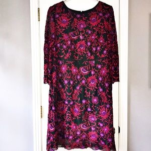Adrianna Papell Embroidered Dress, Sz 18W